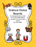 Science Choice Boards 5th