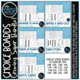 Science Choice Boards Bundle - Distance Learning