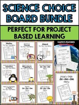 Science Choice Boards Bundle (Editable)
