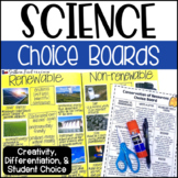 Science Choice Boards - GROWING BUNDLE
