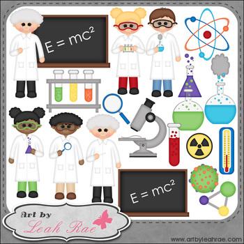 Science Class 1 - Art by Leah Rae Clip Art & Line Art / Digital Stamps