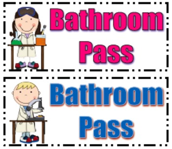 bathroom passes teaching resources teachers pay teachers rh teacherspayteachers com printable bathroom passes modifiable printable bathroom passes template