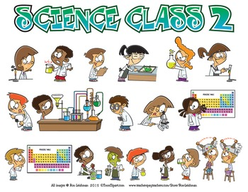 Science Class Cartoon Clipart Vol. 2