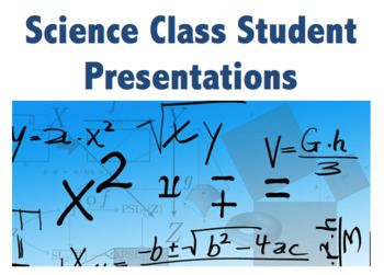 Science Class Student Presentation Rubrics!- BUNDLE