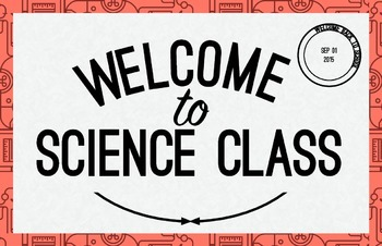 Science Class Welcome Poster