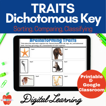 Science Classification Dichotomous Key--Assessments, Worksheets, Cards