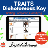TRAITS, Dichotomous Key, SORTING | Google Classroom | Dist