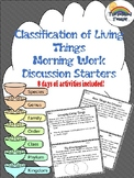 Science Classification of Living Things Morning Work/Activ
