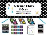 "Science Classroom Decor Bundle ""Black & White"" with Color"
