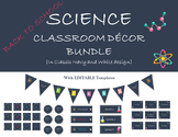 Science Classroom Decor Bundle Navy & White - Get Ready fo