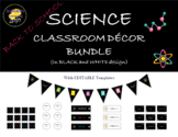 """Science Classroom Decor Bundle in """"Black and White"""""""