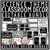 Science Classroom Decorations: Newsletter Template Editable, Student Name Labels