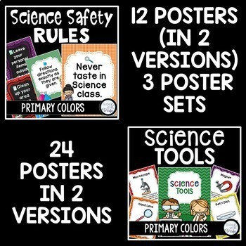 Science Classroom Decor Mega Bundle in Primary Colors
