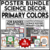 Science Classroom Poster  Bundle in Primary Colors