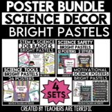 Science Classroom Poster Bundle in Pastel Brights