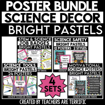 Science Classroom Decor Mega Bundle in Pastel Brights