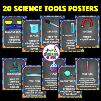 Science Classroom Decorations (Scientific Tools, Posters and Labels)