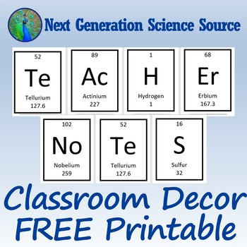 """TEACHER NOTES"" Science Classroom Bulletin Board Decor (Middle or High)"
