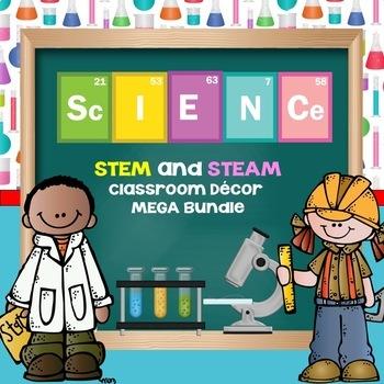 Science Classroom Decoration Set-MEGA BUNDLE-Editable!