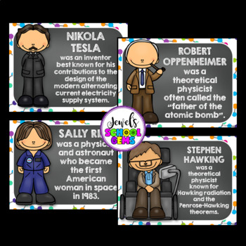 Science Classroom Decorations (Famous Scientists Posters)
