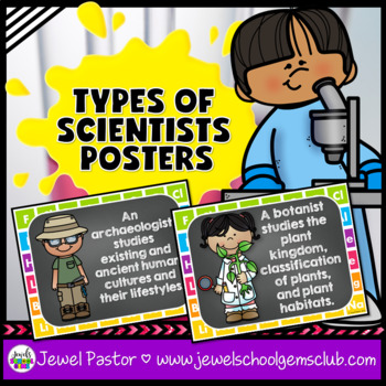 Science Classroom Decorations (Types of Scientists Posters)