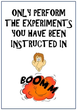 Science Lab Rules Posters - 10 Posters