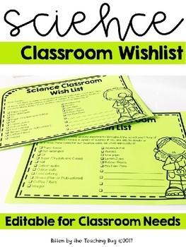 Science STEM Classroom Wish List