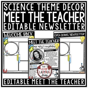 Meet the Teacher Template Editable: Back to School Night, Open House Form