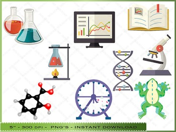 Science Digital Clipart - Scientific Images / Personal And Commercial Use