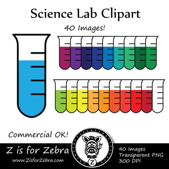 Science Clip Art - Test Tube! CU Ok { Z is for Zebra }