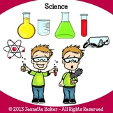 Science Clip Art by Jeanette Baker