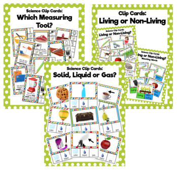Science Clip Card Bundle