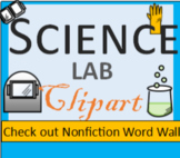 Clipart, Science, Labratory, Images, Word Wall Visuals, 12