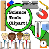 Science Clipart Set- Scientists and Tools