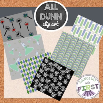 Science Clip Art and Digital Paper