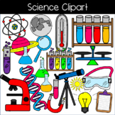 Science Clipart: test tubes, beakers, planet, microscope, telescope & more!