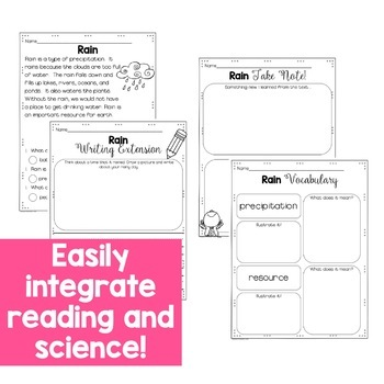 Science Close Reading for First Grade: Spring Edition