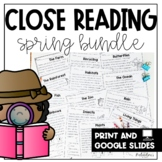 First Grade Close Reading Comprehension Passages and Questions: Spring Edition
