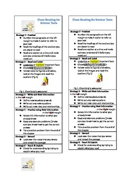 Science Close Reading Bookmark