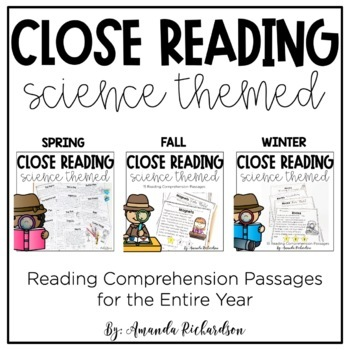First Grade Close Reading Bundle: Science Passages