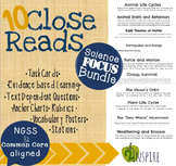 Science Close Reading Bundle- Evidence and Text-Dependent