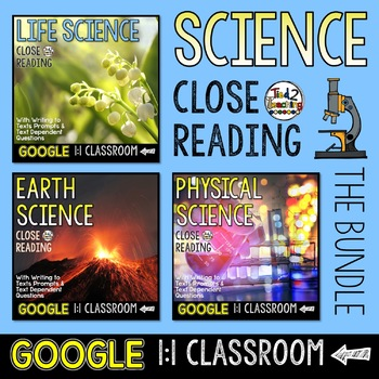 Science Close Reading Bundle for Google Classroom