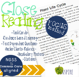 Science Close Reading Plant Life Cycle Evidence & Text Dep