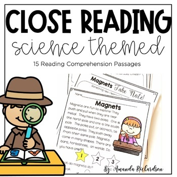 Science Close Reading for First Grade: Fall Edition