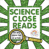 Science Close Reading Organizers for Any Science Text or Article