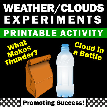 Cloud in a Bottle Science Experiments, Thunderstorm Lab,
