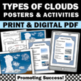 Types of Clouds Activities, Weather Unit Supplement, Science Poster