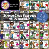 Science Cloze Passages MEGA BUNDLE!  All 23 Passages Included