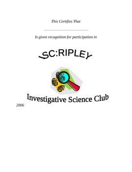 Science Club Forensic Lessons