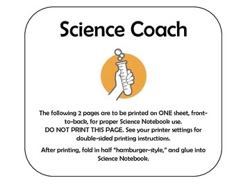 Science Coach Note-Page, Physical Properties 1 AND 2 BUNDLE
